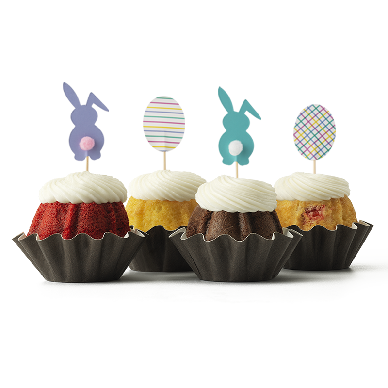 Bunnies and Eggs Bundt Cake