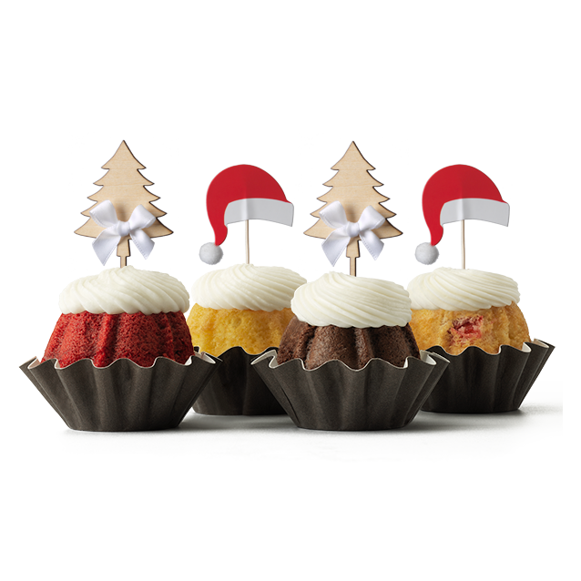 Christmas Trees and Hats Bundt Cake