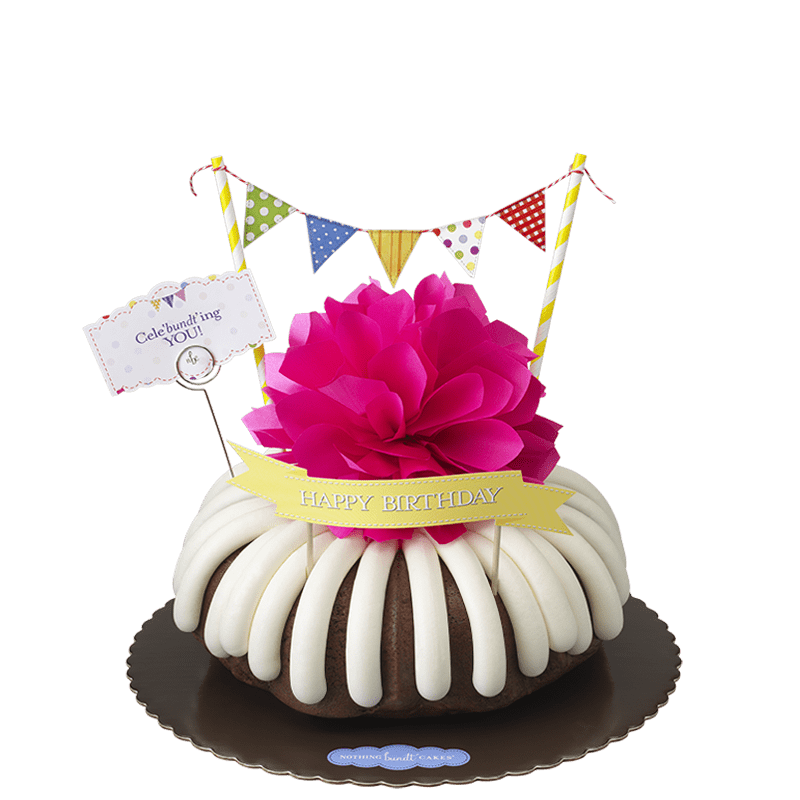 Cele'bundt'ing You with Birthday banner Bundt Cake