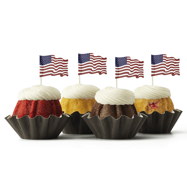 Waving Flags Bundt Cake