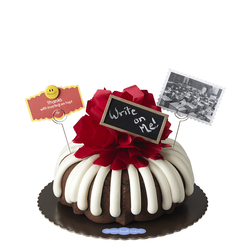 Thanks with Frosting on Top Bundt Cake