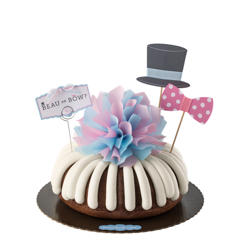 Baby Gender Reveal Bundt Cake