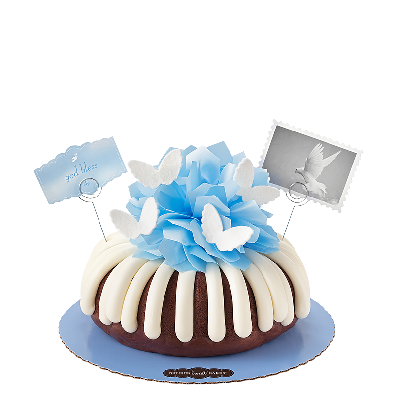 God Bless in Blue Bundt Cake